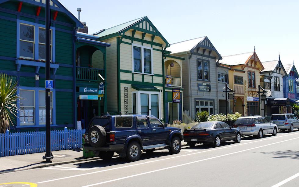 Street in  Napier  - North Island NZ