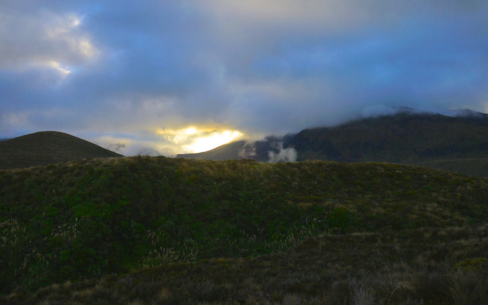 Early Morning at Tongariro Alpine Crossing Track - North Island, NZ