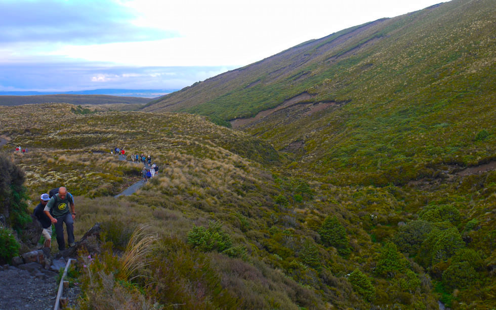 Below Devils Staircase at Tongariro Alpine Crossing Track - North Island, NZ