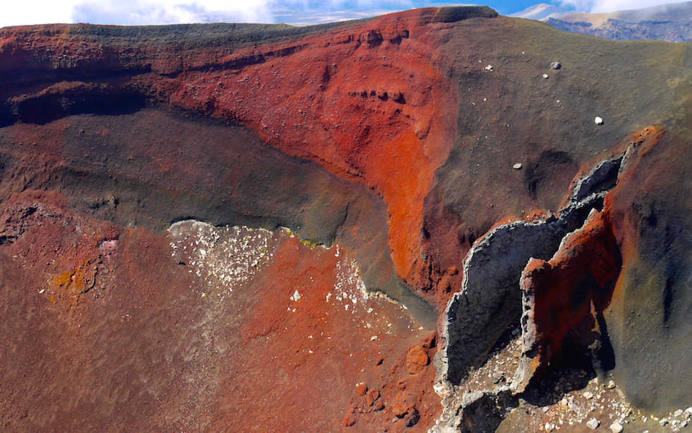 Red Crater seen from Tongariro Crossing - Tongariro National Park - North Island NZ