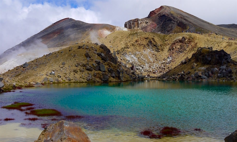 Tongariro Alpine Crossing - Emerald Lakes - Neuseeland Südinsel