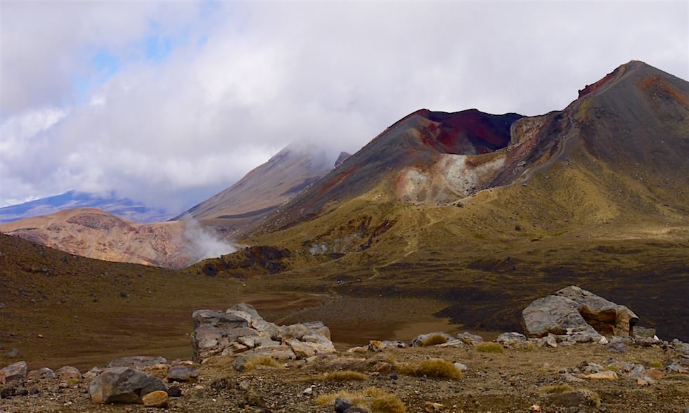 Blick auf Central Plateau - Tongariro Alpine Crossing - Neuseeland Nordinsel