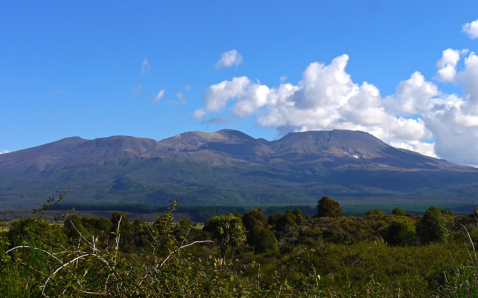 View on Tongariro National Park - North Island NZ