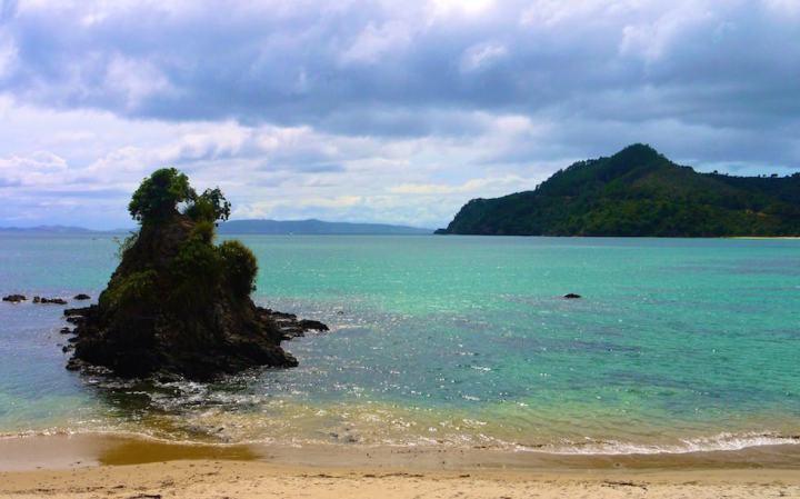 View from Beach at Coromandel Peninsula North Island NZ