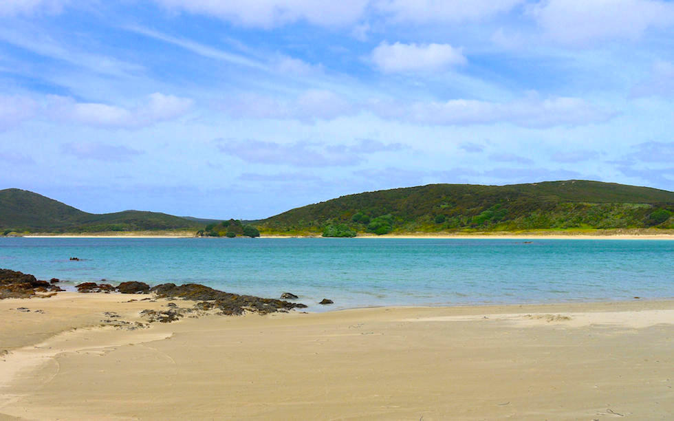 Beach at Bay of Island North Island NZ