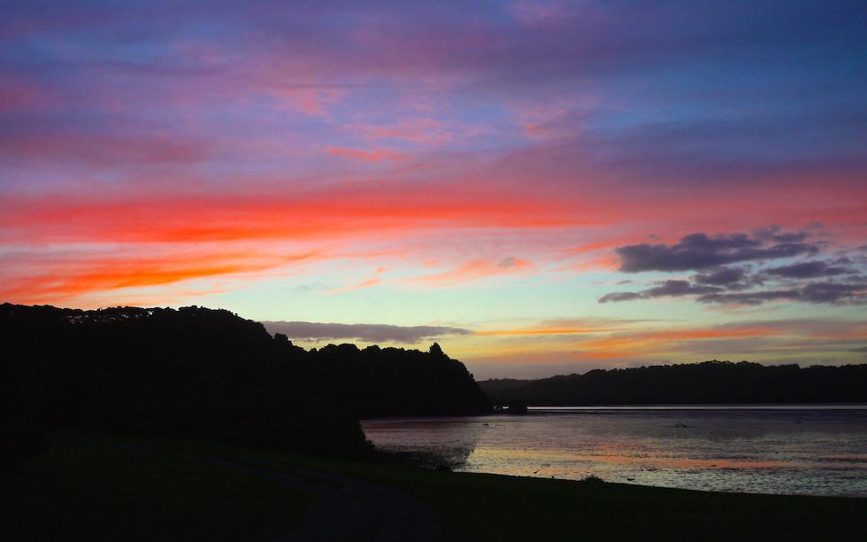 Sunset at Bay of Island North Island NZ