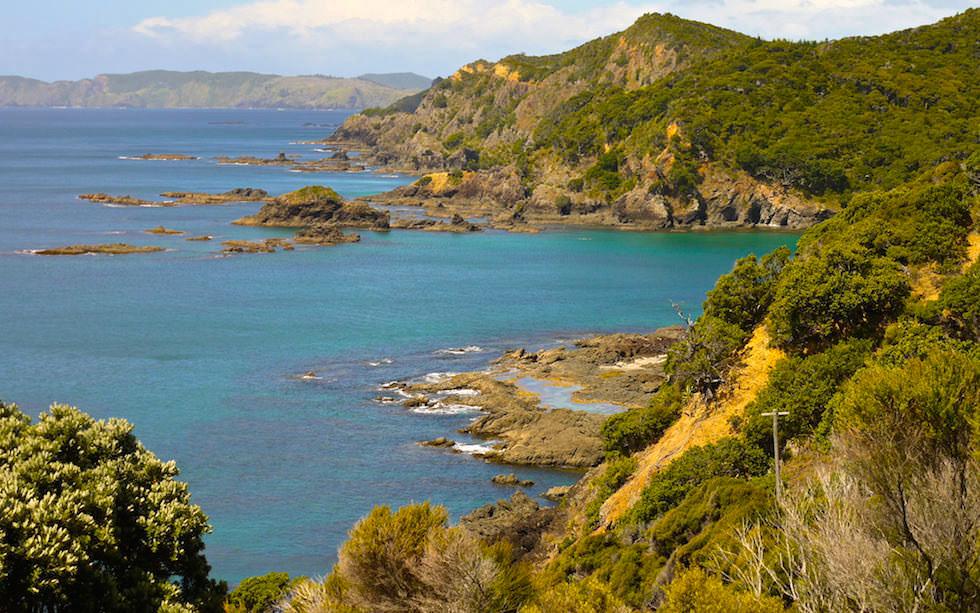 Rock formation at Bay of Island North Island NZ