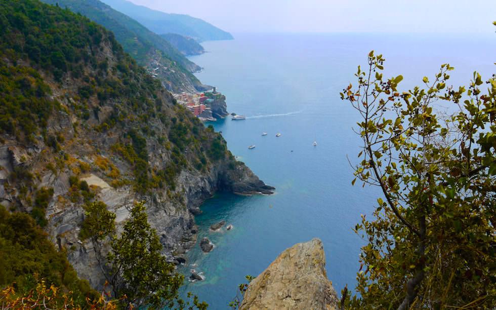 coast line of Cinque Terre Italy