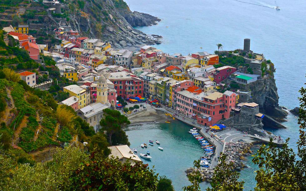 Characteristic Vernazza Cinque Terre Italy