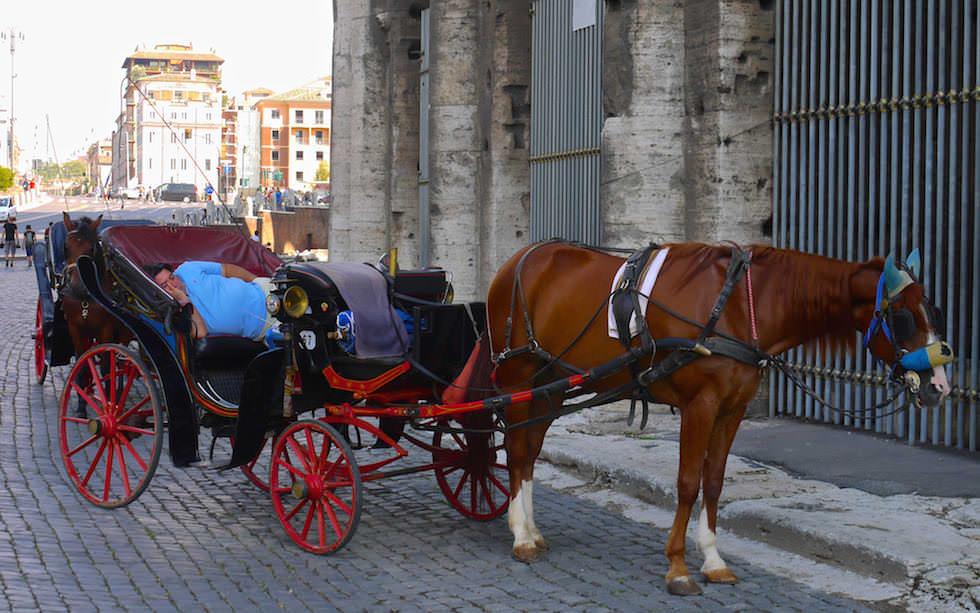 vor dem Kolosseum in Rom Italien
