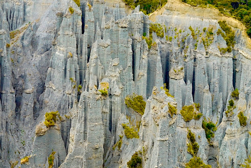 Putangirua Pinnacles - beste & imposantestes Beispiel von Badlands in Neuseeland