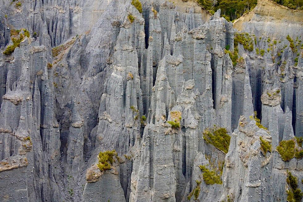 Südlichster Punkt der Nordinsel: Putangirua Pinnacles - Eine mystische Felsnadelkulisse im Film Herr der Ringe - Neuseeland