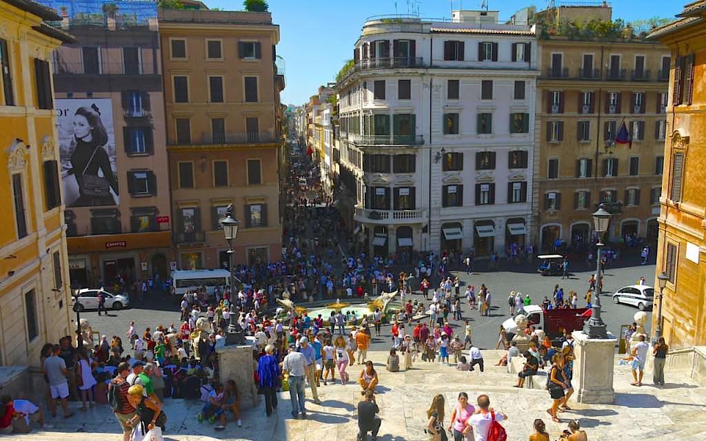 Rome-view-from-piazza-Trinita-dei-Monti-on-Piazza-di-Spagna-1024x640