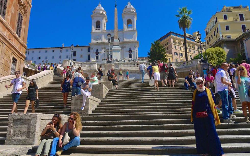 Rom Spanische Treppe Trinita Dei Monti Kirche Villa Borghese Passenger On Earth