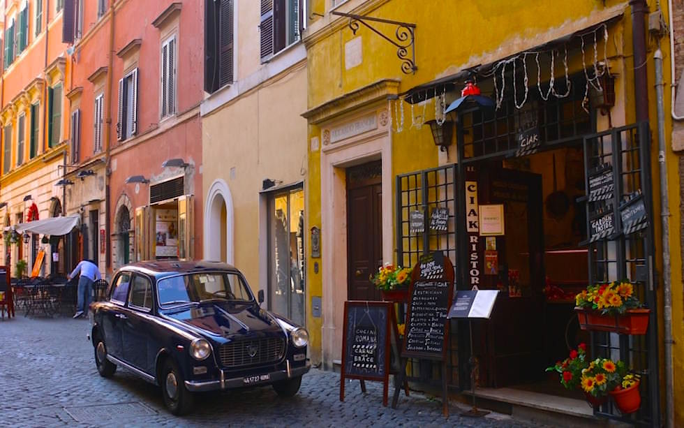 Streets in beautiful Travestere Rom Italy