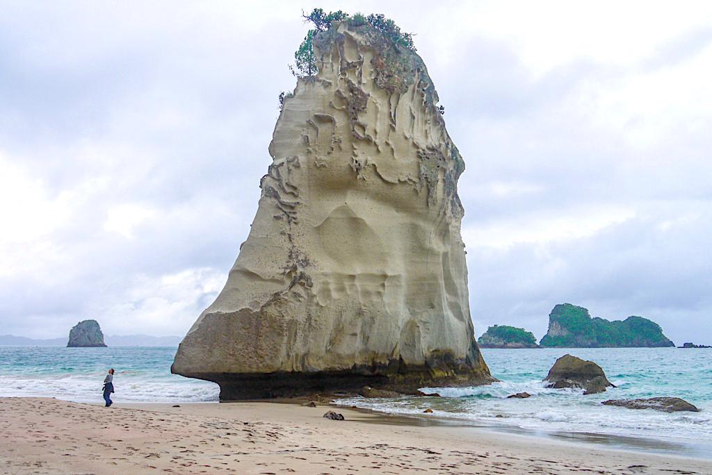 Te Hoho: eine der wohl eindrücklichsten & bekanntesten Felsformationen Neuseelands - Cathedral Cove - Coromandel Peninsula Highlights - Nordinsel, Neuseeland