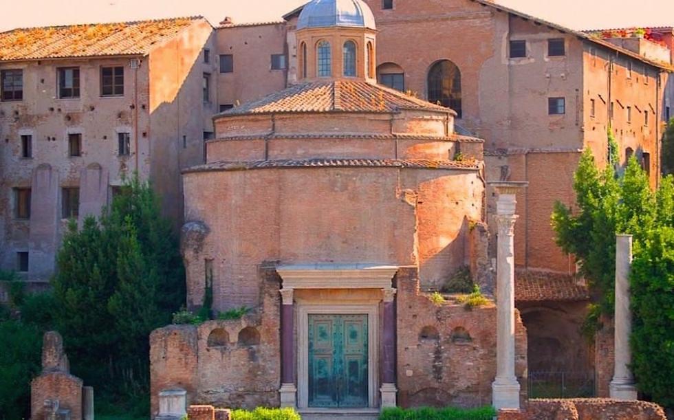 Temple-of-Divus-Romulus-at-Forum-Romanum-in-Rome