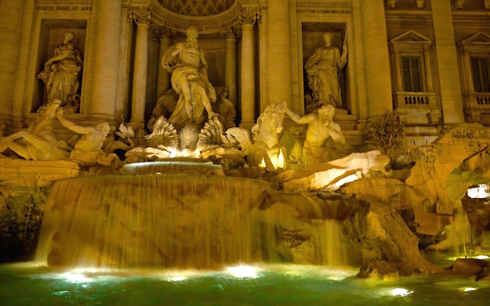 Fontane di Trevi in Rom Italien