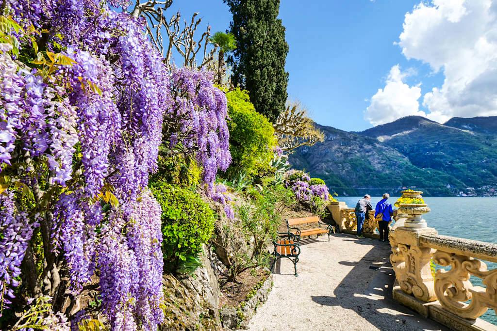 Villa Balbianello - Nirgendwo gibt es schönere Balkone mit einem so herrlichem Blick auf den Comer See - Lombardei, Italien
