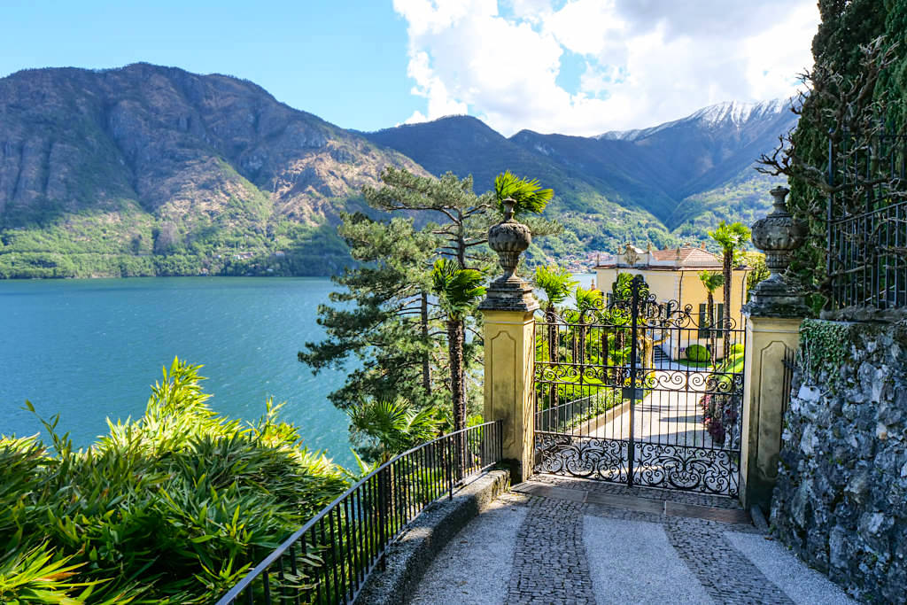 Villa Balbianello am Comer See - Ausblick am Eingang - Lombardei, Italien