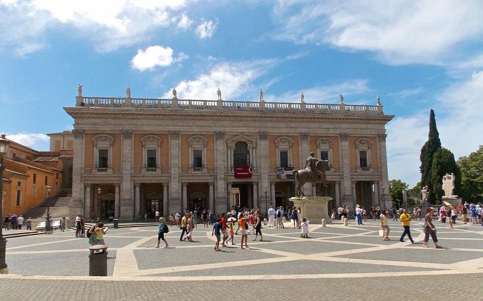 Kapitalonischer Hügel im Rom Italien