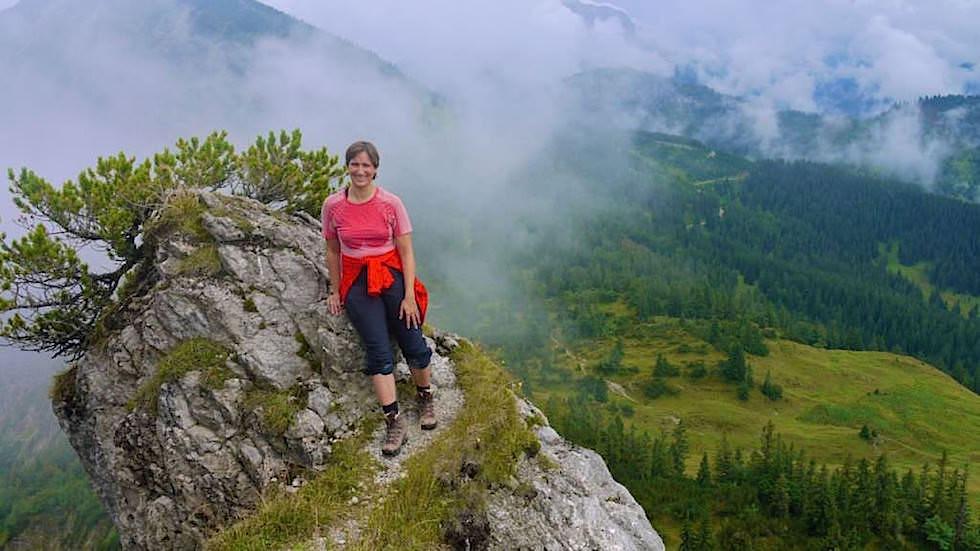 Beim Gipfel - Schildenstein - Wunderschöne Blauberge Wanderung beim Tegernsee in Bayern