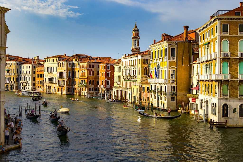 Canal Grande bei Sonnenuntergang - Venedig Sehenswürdigkeiten - Italien