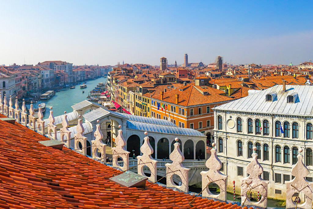 Venedig Geheimtipps: Fondaco dei Tedeschi - Kostenloser Ausblick über Venedig und Canal Grande - Italien