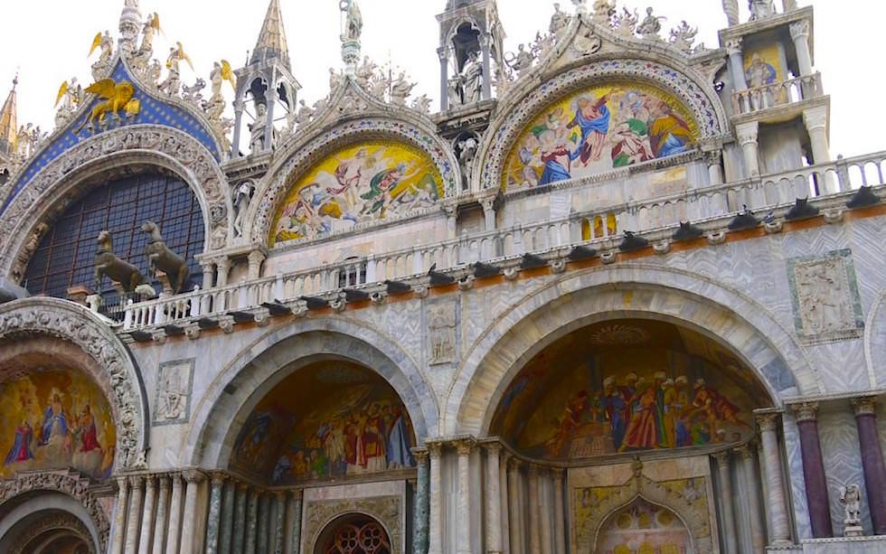 Basilica San Marco - Markusdom Malereien an der Piazza San Marco - Markusplatz in Venedig Italien
