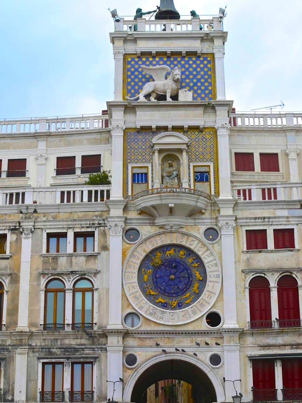 St Marks Clock Tower - Torre dell Orologio at Piazza San Marco in Venice Italy