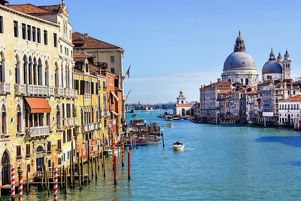 Venedig Sehenswürdigkeiten - Canal Grande und seine Paläste - Italien