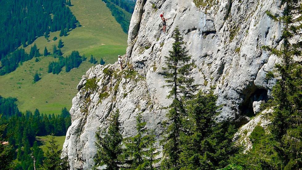 Freiklettern an der Kampenwand - Chiemsee Gebiet - Bayern