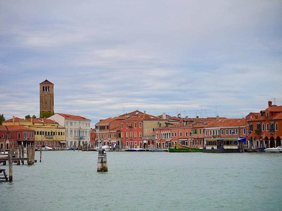 Murano - Ankunft mit der Fähre & Blick auf Insel - Lagune von Venedig - Italien
