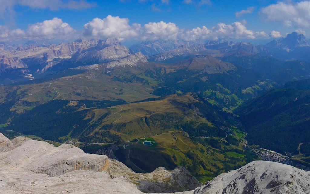 Piz Boè Wanderung - Blick vom Gipfel - Dolomiten & Sella Gruppe - Südtirol Italien