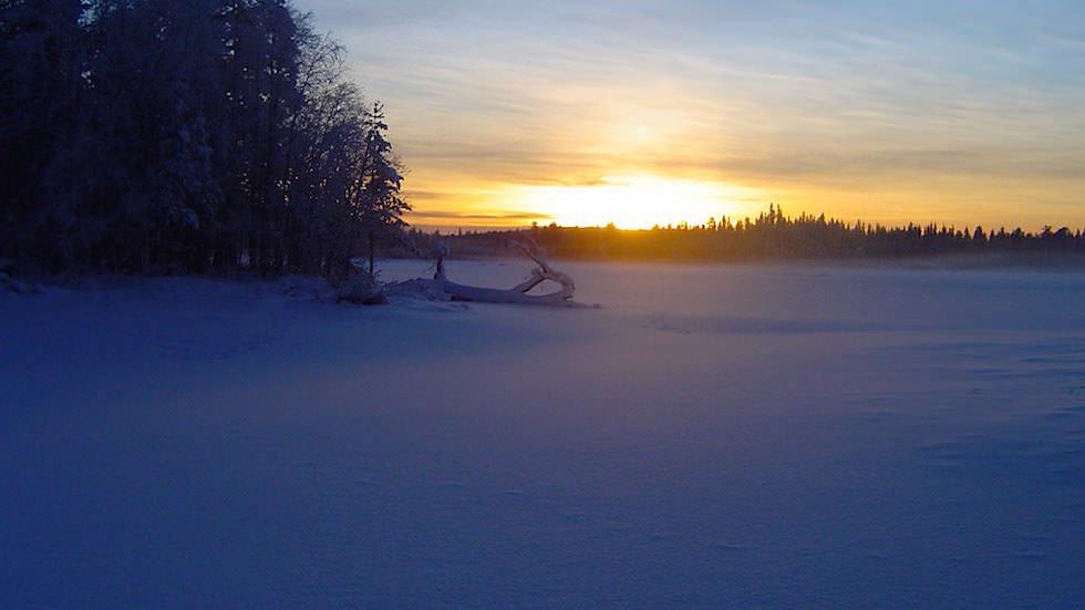 Sonnenuntergang in Schwedisch Lappland