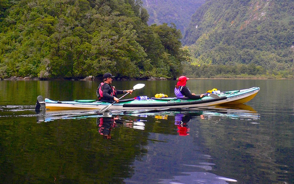 Kayaking Doubtful Sound South Island NZ