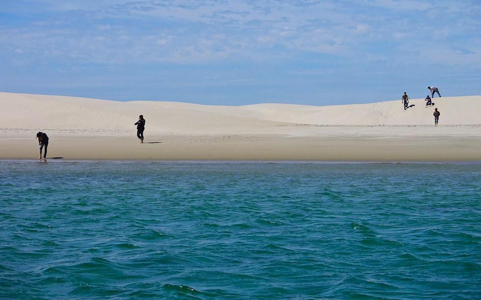 Isla Magdalena Baja California Sanddünen Spaziergang