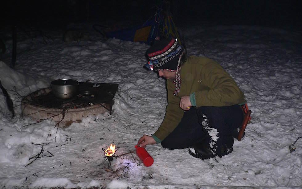 Übernachten im Freien - Lappland Husky Abenteuer