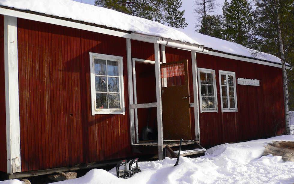 Öffentliche Hütte - Lappland Husky Schittentour
