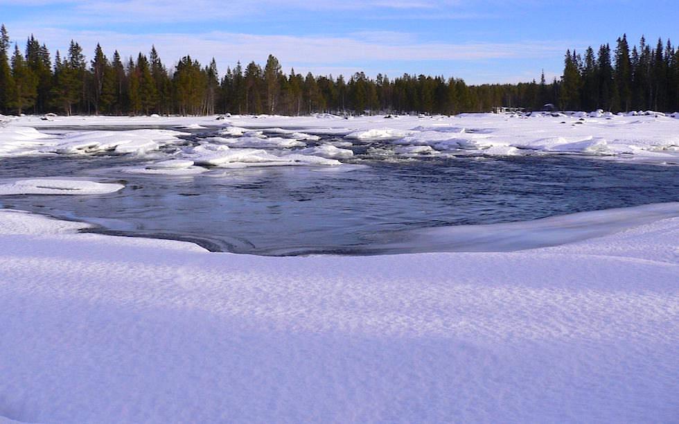 Eis-See in Schwedisch Lappland