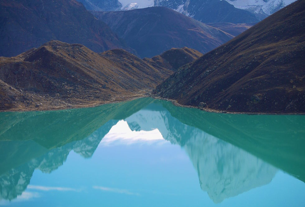 View of Gokio Ri Lake Nepal Himalaya