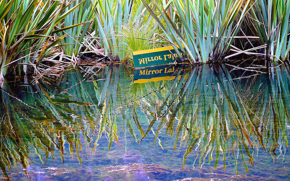 Mirror Lakes South Island near Te Anau NZ