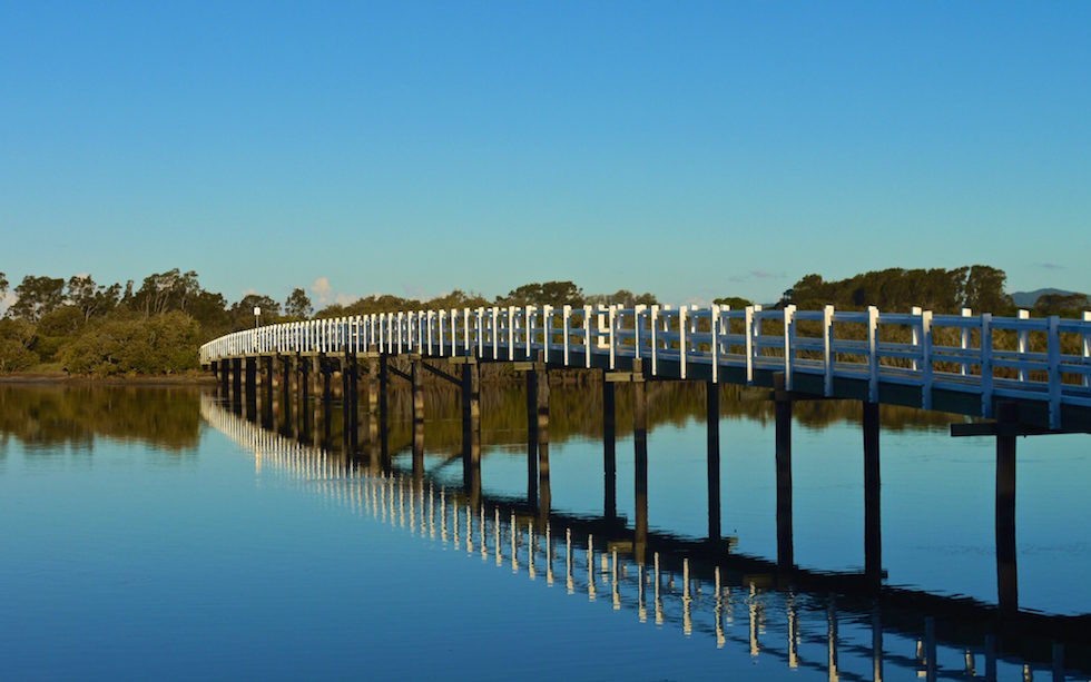 Bridge on a Lake in Australia