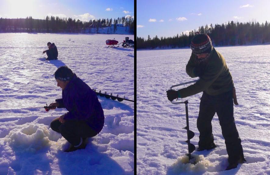 Eisfischen Lappland Winter