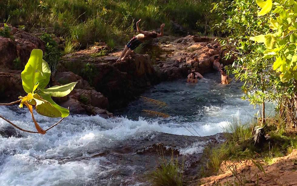 Litchfield National Park einer der schönsten Nationalparks: Buley Rockhole bietet Badespaß zu jeder Jahreszeit - Northern Territory Australia