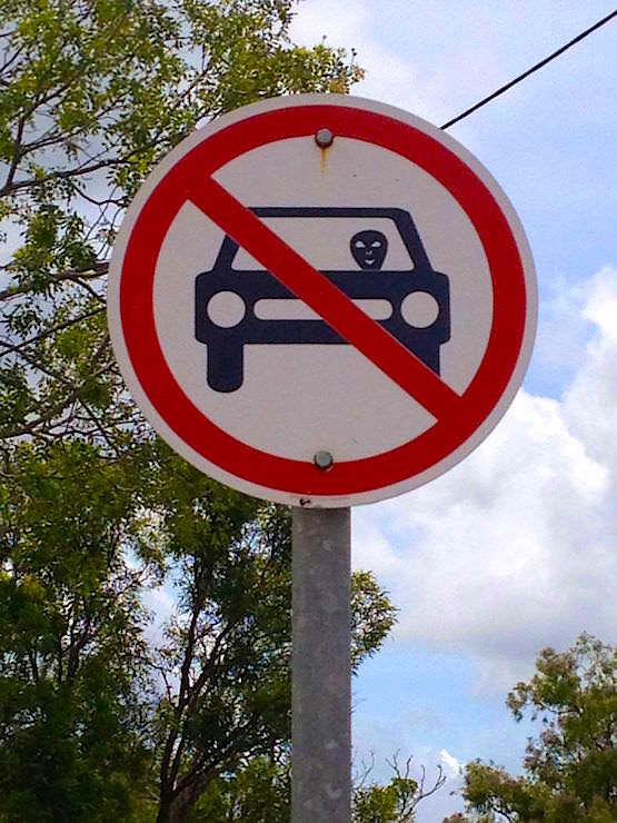 Aliens not allowed to drive cars