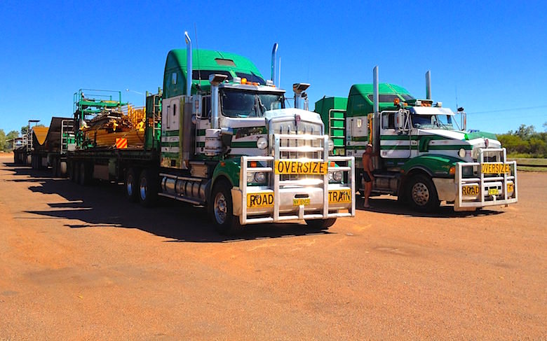 Road Train at Tree Way Roadhouse Northern Territory