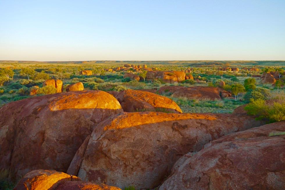 Karlu Karlu -Aboriginal Heiligtum & Traumzeit-Geschichten - bei Tennant Creek, Northern Territory