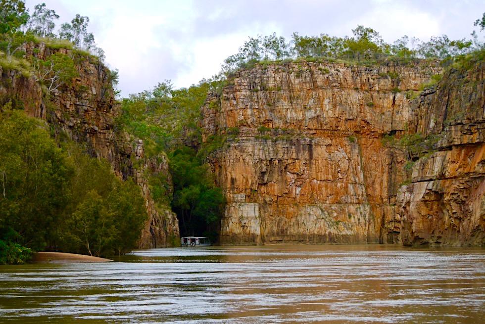 Katherine Gorge Bootstour - Steilwände der 2. Katherine Gorge - Nitmiluk National Park - Northern Territory