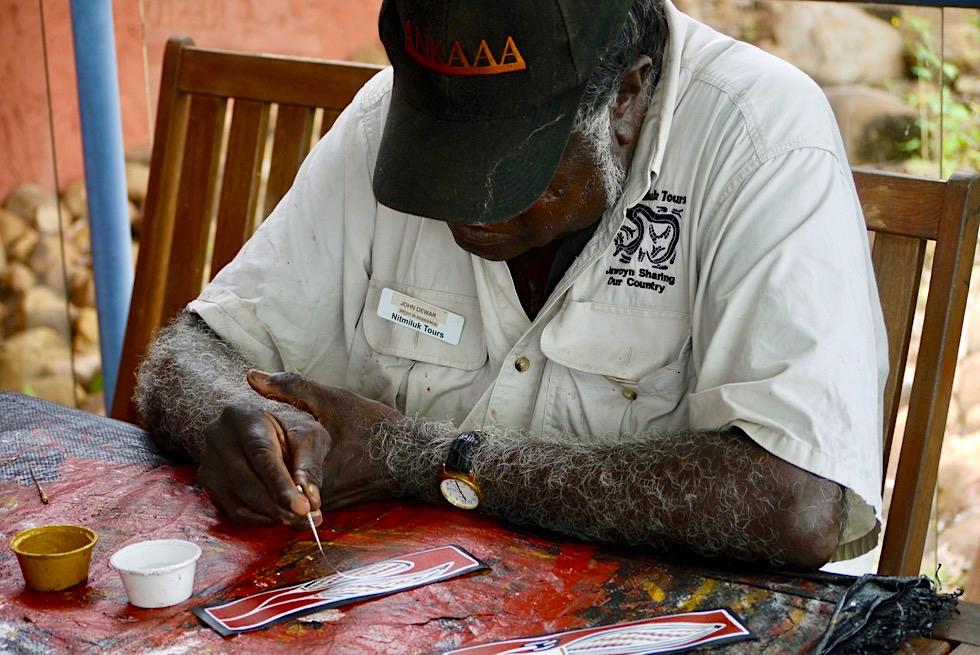 Katherine Gorge - Künstler malen Souvenirs - Nitmiluk National Park - Northern Territory